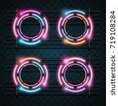technology neon design | Shutterstock .eps vector #719108284