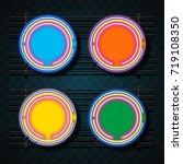 circle neon design | Shutterstock .eps vector #719108350