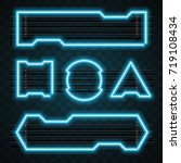 technology neon design set | Shutterstock .eps vector #719108434