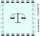 libra icon  balance vector... | Shutterstock .eps vector #719108773