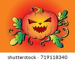 halloween pumpkin | Shutterstock .eps vector #719118340
