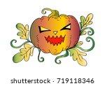 halloween pumpkin | Shutterstock .eps vector #719118346