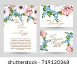 invitation with floral... | Shutterstock .eps vector #719120368