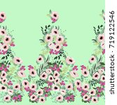 seamless border in small pretty ... | Shutterstock .eps vector #719122546
