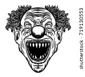 scary cartoon clown... | Shutterstock .eps vector #719130553