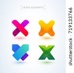 x letter logo collection.... | Shutterstock .eps vector #719133766