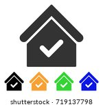 valid house icon. vector... | Shutterstock .eps vector #719137798