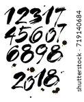 vector set of calligraphic... | Shutterstock .eps vector #719140684