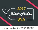 cartoon black friday on the... | Shutterstock .eps vector #719143330