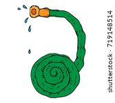 hose with drops of water. water ... | Shutterstock .eps vector #719148514