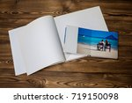 open book with a photo couples... | Shutterstock . vector #719150098