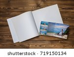 open book with a photo couples... | Shutterstock . vector #719150134
