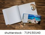 open book with a photo couples... | Shutterstock . vector #719150140
