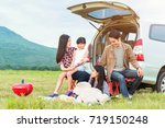 drive in the vacations family ... | Shutterstock . vector #719150248