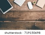 office stuff and stationery... | Shutterstock . vector #719150698