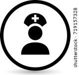 nurse icons. vector. | Shutterstock .eps vector #719157328