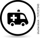 car medical icons. vector. | Shutterstock .eps vector #719157340