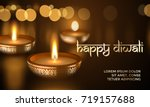 happy diwali indian deepavali... | Shutterstock .eps vector #719157688