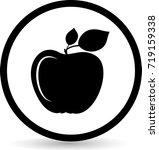 apple icons. vector.  | Shutterstock .eps vector #719159338