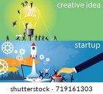 vector illustration. business...   Shutterstock .eps vector #719161303