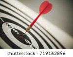 target dart with arrow | Shutterstock . vector #719162896
