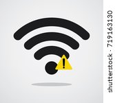 wireless network error icon.... | Shutterstock .eps vector #719163130