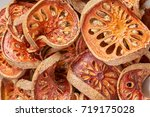 close up dry  bael slice for... | Shutterstock . vector #719175028