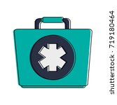 first aid kit healthcare icon... | Shutterstock .eps vector #719180464