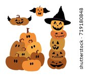 halloween  pumpkins  hat | Shutterstock .eps vector #719180848