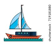 ship with sails icon image  | Shutterstock .eps vector #719181880