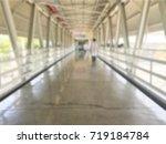 blurry sky walk way with few... | Shutterstock . vector #719184784