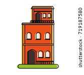 vintage building town or... | Shutterstock .eps vector #719187580