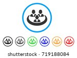 social network rounded icon.... | Shutterstock .eps vector #719188084