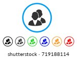 customers rounded icon. style... | Shutterstock .eps vector #719188114
