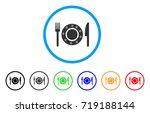 restaurant tableware rounded... | Shutterstock .eps vector #719188144