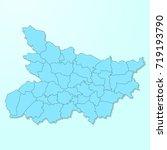bihar blue map on degraded... | Shutterstock .eps vector #719193790