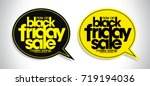 black friday sale speech... | Shutterstock .eps vector #719194036