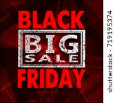 black friday sale background ... | Shutterstock .eps vector #719195374
