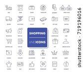 line icons set. shopping pack....   Shutterstock .eps vector #719196016