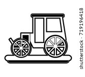 carriage or chariot icon image  | Shutterstock .eps vector #719196418