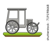 carriage or chariot icon image  | Shutterstock .eps vector #719198668
