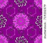 seamless background pattern.... | Shutterstock .eps vector #719202379