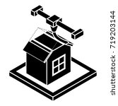 house d printing icon. simple... | Shutterstock .eps vector #719203144