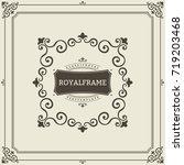 frame template. vintage... | Shutterstock . vector #719203468