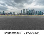urban traffic road with... | Shutterstock . vector #719203534