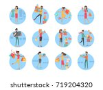 people doing shopping and... | Shutterstock . vector #719204320