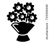 wedding flower bucket icon .... | Shutterstock .eps vector #719204440