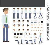 create your character... | Shutterstock . vector #719204974