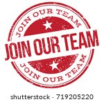 join our team stamp | Shutterstock .eps vector #719205220