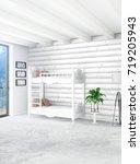 white bedroom minimal style... | Shutterstock . vector #719205943
